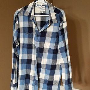 Blue flannel button down